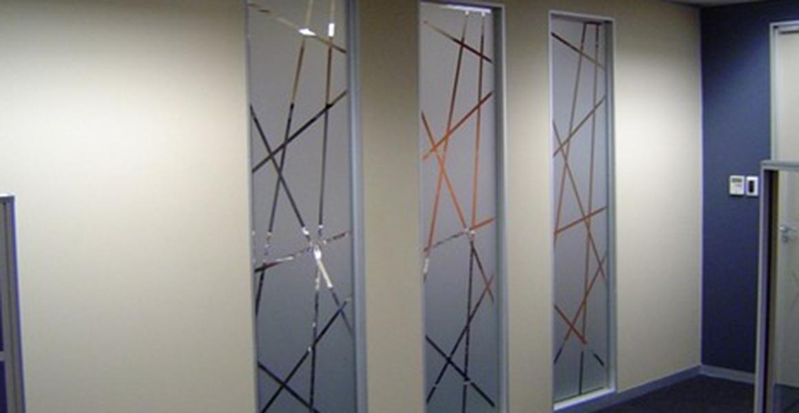 Sandblasted Glass - Imeni Shargh Glass manufacturing plants